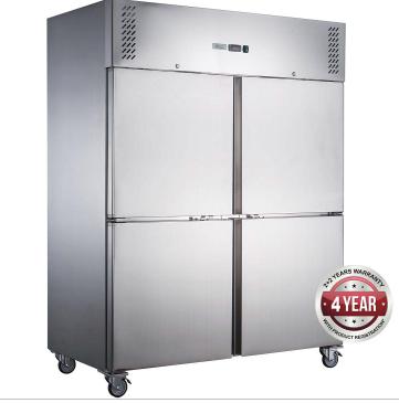 Fed-X  Upright Freezer XURF1200S2V – Split Door, 1200 Litre