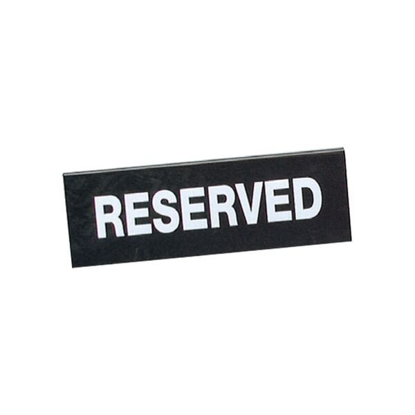 Chef Inox Reserved Double Sided Sign