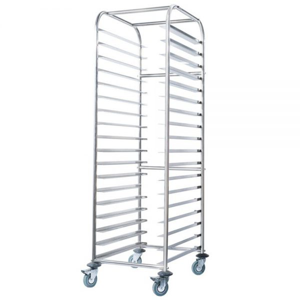 Simply Stainless Mobile Tray Trolley Bakery SS16.BT