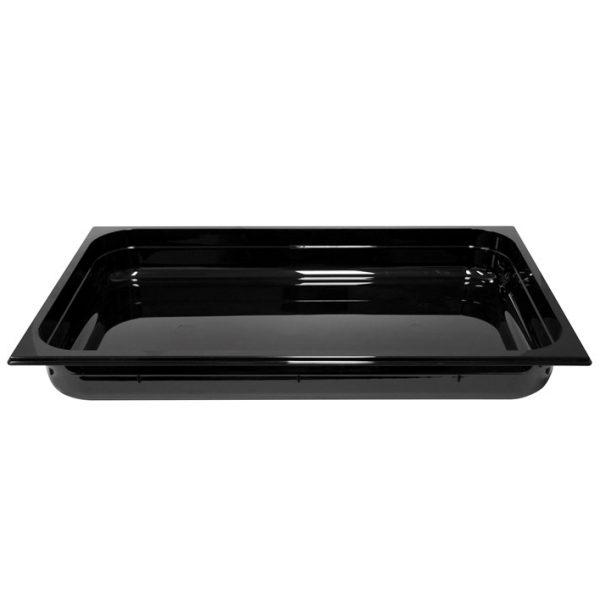 Polycarb PC-11065BK Gastronorm Black Food Pans 1/1 65mm Deep