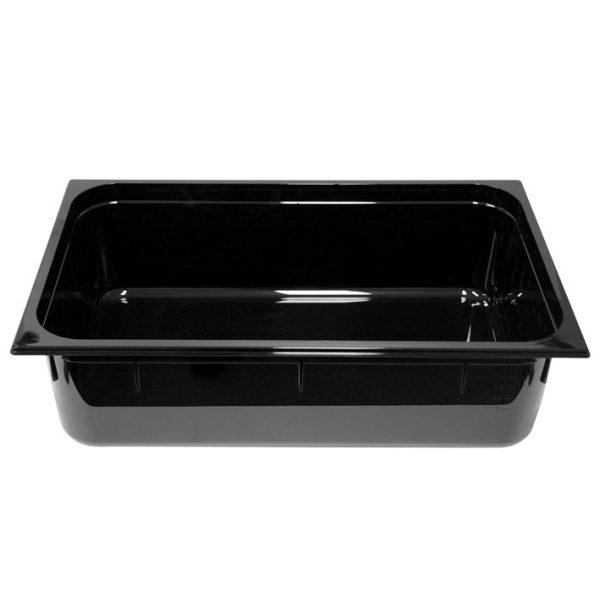 Polycarb PC-11150BK Gastronorm Black Food Pans 1/1 150mm Deep