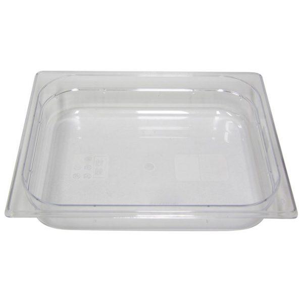 Polycarb PC-12065CL Gastronorm Clear Food Pans 1/2 65mm Deep