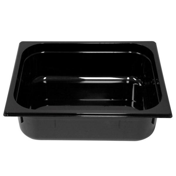 Polycarb PC-12100BK Gastronorm Black Food Pans 1/2 100mm Deep