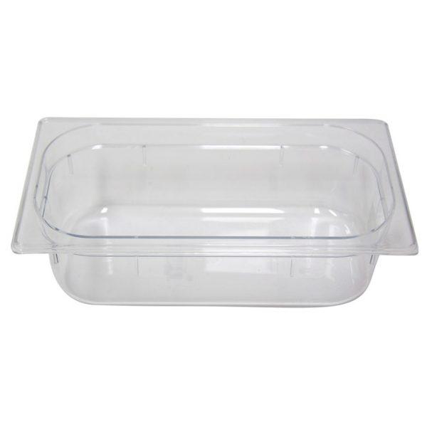 Polycarb PC-13100CL Gastronorm Clear Food Pans 1/3 100mm Deep