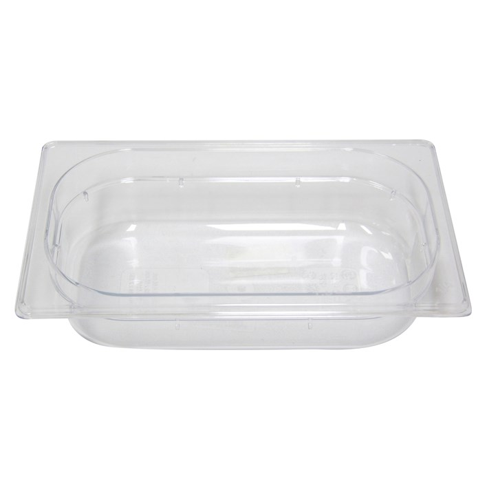 Polycarb PC-14065CL Gastronorm Clear Food Pans 1/4 65mm Deep