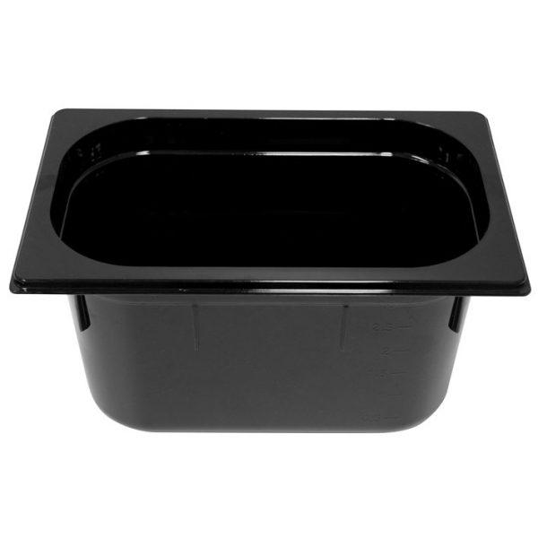 Polycarb PC-14150BK Gastronorm Black Food Pans 1/4 150mm Deep