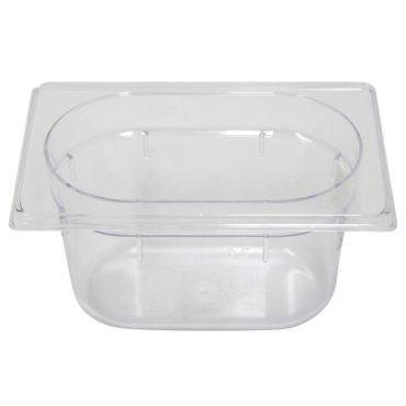 Polycarb PC-19100CL Gastronorm Clear Food Pans 1/9 100mm Deep