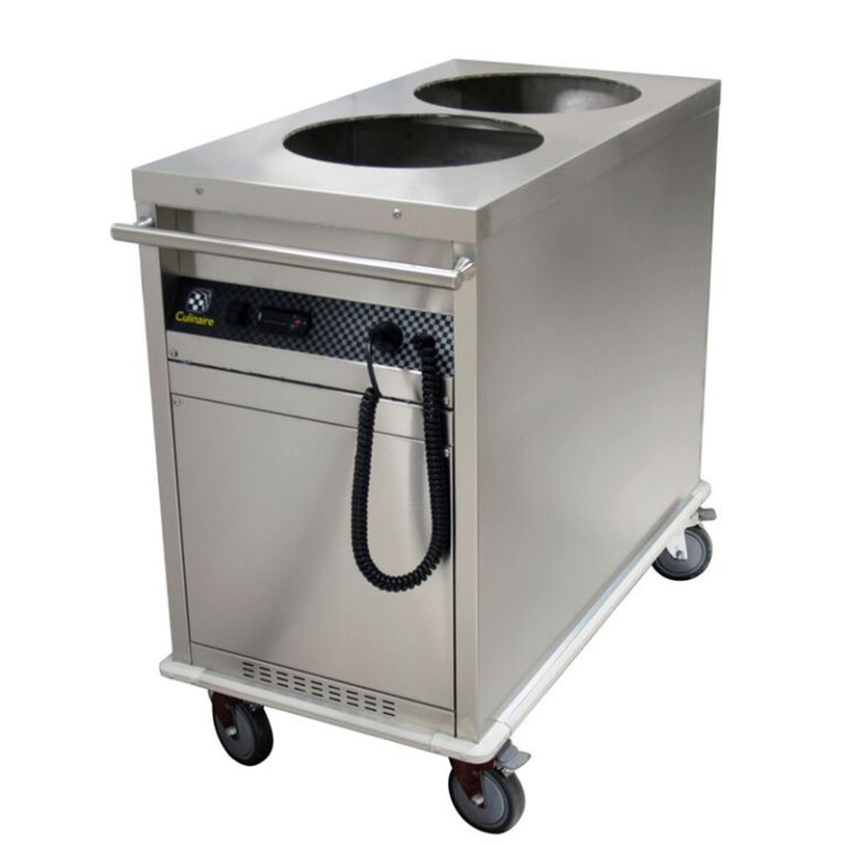 Mobile Heated Plate Dispenser (Dual Tube) Culinaire CAPD2