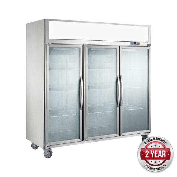 Thermaster SUFG1500 Three Glass Door Upright Freezer