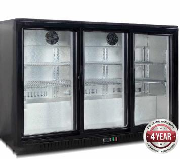 Thermaster LG-330SC Bar Fridge (Low – Underbench unit) 3 Sliding Doors